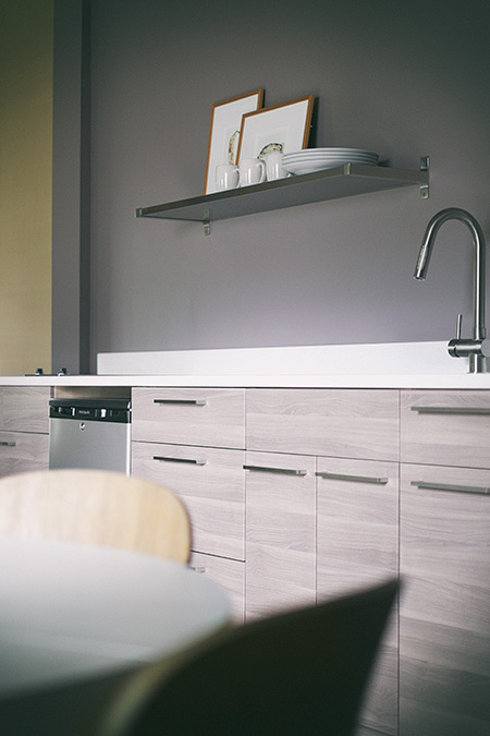 The sleek kitchenette of The Nash